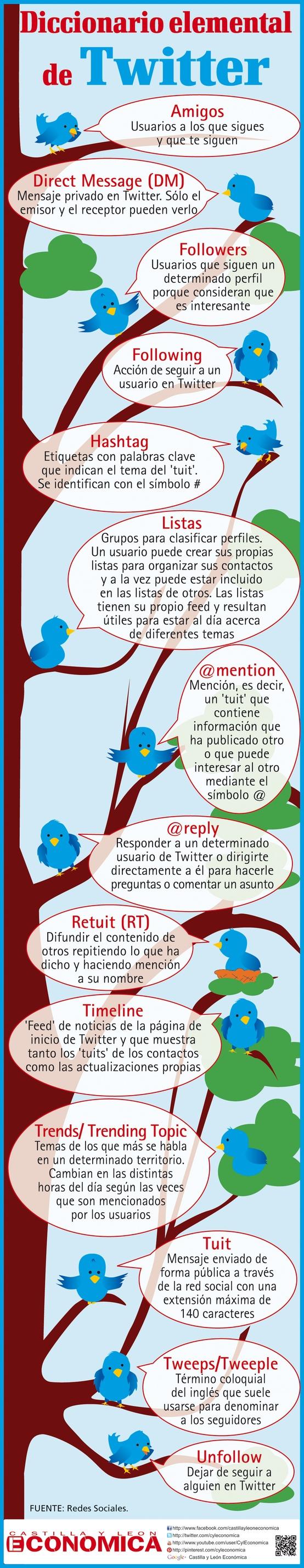 XXTwitter para principiantes,significado de todos los terminos #infografia