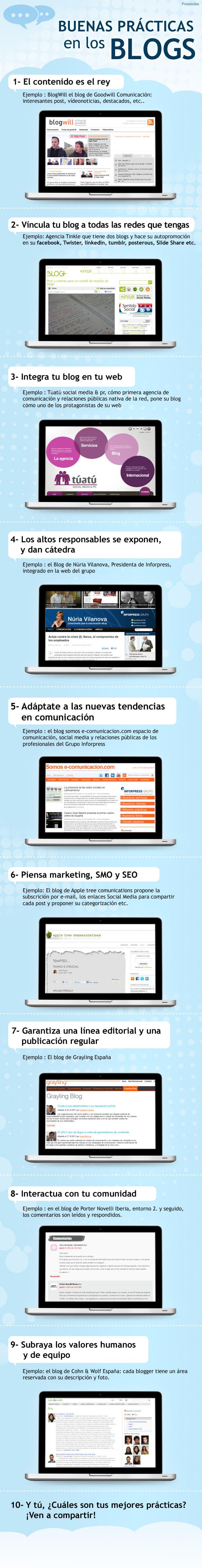 XX9 buenas prácticas para tu blog que debes saber #infografía