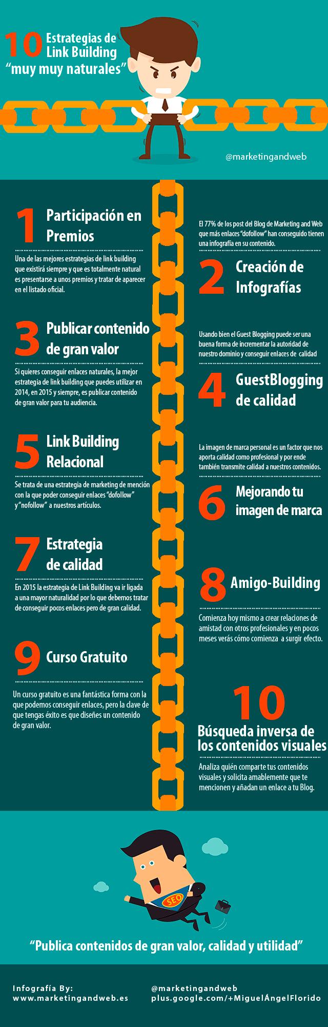 XXLink building: Cómo conseguir enlaces de calidad #infografía